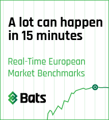 A lot can happen in 15 minutes. Real-Time European Market Benchmarks.